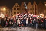"""Akcja """"Murem za Owsiakiem"""" na Rynku w Grudziądzu [zdjęcia, wideo]"""