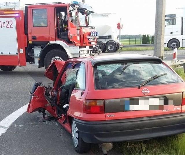 Wypadek na obwodnicy Kluczborka.