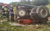Tragiczny wypadek traktora w Mikołowie: Ciągnik przygniótł dziadka z 8-letnim wnuczkiem w trakcie prac polowych. Mężczyzna zginął