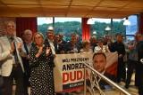 Wybory prezydenckie 2020. Wielka radość w gorzowskim sztabie Andrzeja Dudy po ogłoszeniu wyników sondażowych