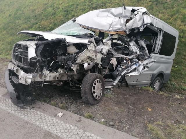 Wypadek na autostradzie A4 12.11.2020