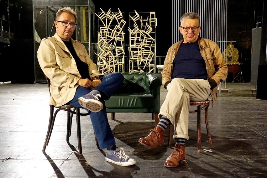 Andrzej Bart (z prawej) odchodzi z Teatru Nowego im. Kazimierza Dejmka w Łodzi
