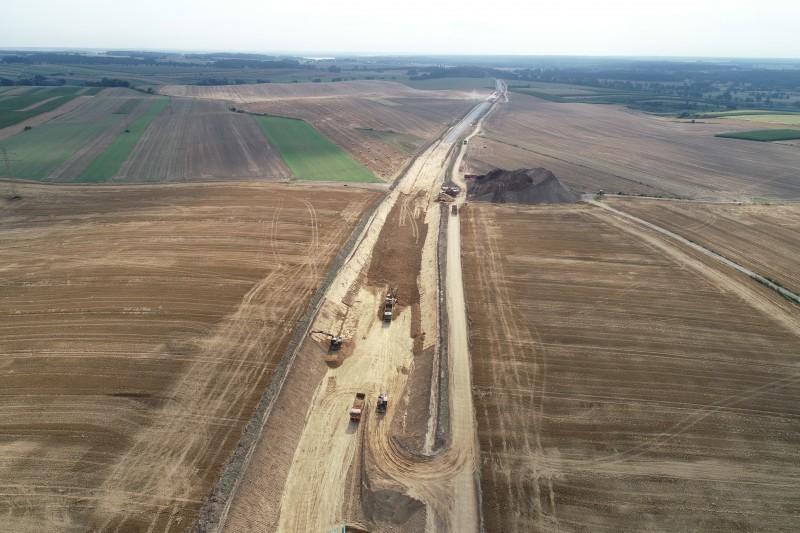 Tak wygląda postęp prac przy budowie obwodnicy Kędzierzyna-Koźla.