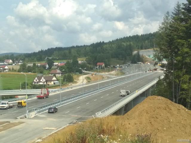 Budowa zakopianki na odcinku Lubień - Skomielna Biała