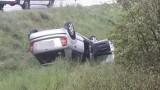 """Wypadek na krajowej """"6"""". Dachował samochód osobowy [ZDJĘCIA]"""