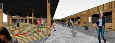 Wizualizacja Maślanego Rynku w Limanowej. Jego budowa trwa. Ma kosztować 4,5 miliona złotych, a zakończy się w przyszłym roku FOT. ARCHIWUM UM LIMANOWA