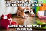 """Najśmieszniejsze MEMY o butach! Internauci wyśmiewają """"miłość"""" do obuwia i nie tylko! [19.04.2021]"""
