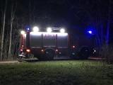 Pożar w miejscowości Podleńce. Strażacy uratowali dom (zdjęcia)