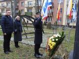 75. rocznica wyzwolenia obozu Auschwitz. Pod pomnikiem Wielkiej Synagogi złożono kwiaty
