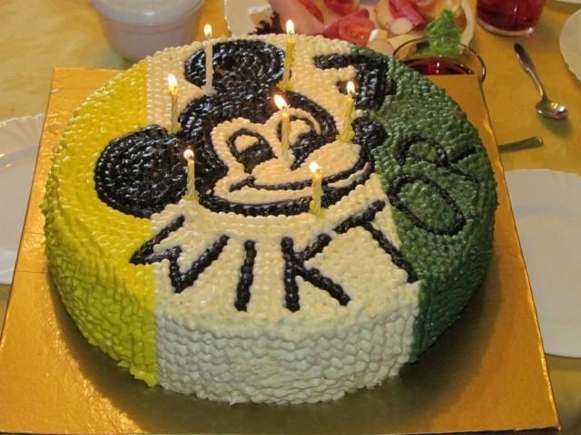 Tort urodzinowy w barwach Falubazu