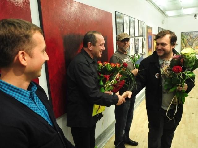 Czterej laureaci. Od lewej: Józef Chyży, Jan Serafin, Artur Mikusz i Bartłomiej Trzos.
