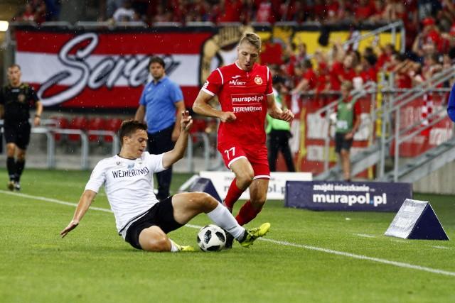 Konrad Gutowski podczas meczu z Gryfem w poprzednim sezonie