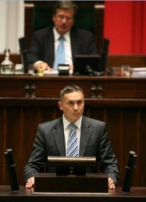Poseł Sebastian Karpiniuk.