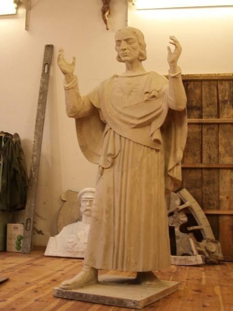 Gotowa rzeźba w glinie w proporcji 1:3