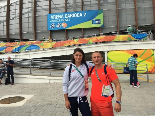 Katarzyna Kłys z mężem i trenerem Arturem Kłysem