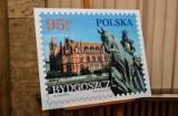 """Bydgoszcz na znaczku Poczty Polskiej filatelistycznej serii obiegowej """"Miasta polskie"""""""