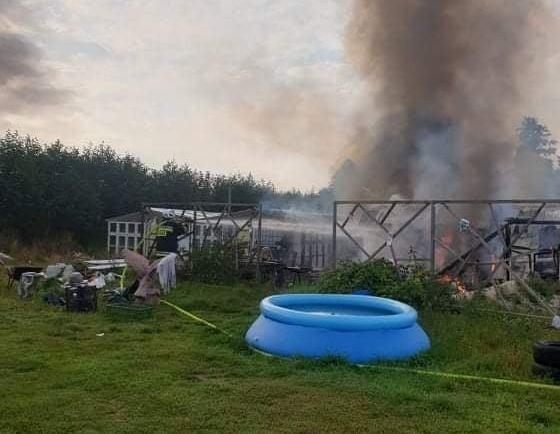 Gaszenie pożaru w okolicach Dąbia, który wybuchł w...