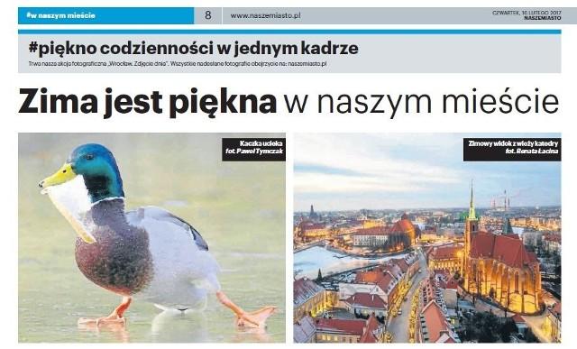 W gazecie Nasze Miasto 16 lutego 2017