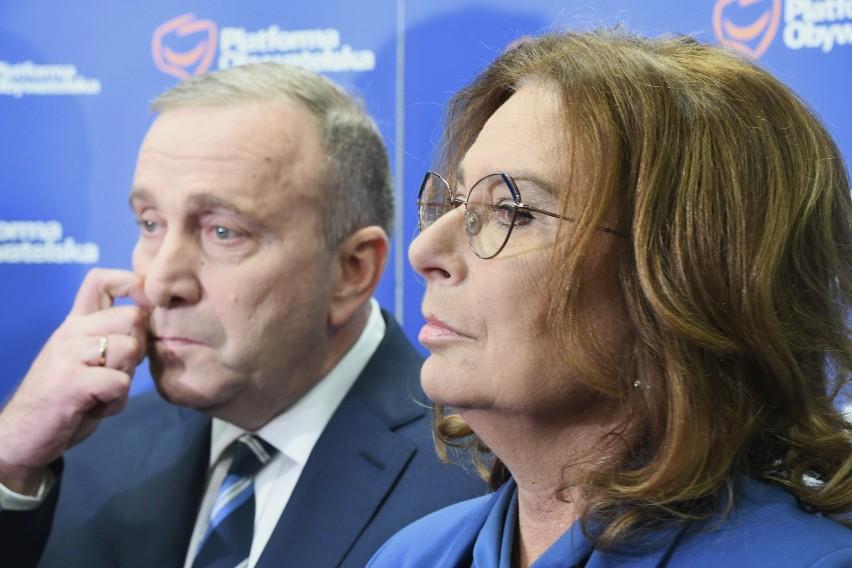 Grzegorz Schetyna i Małgorzata Kidawa-Błońska, wicemarszałek...