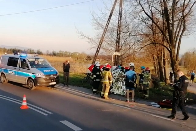 Do wypadku doszło na łuku ul. Bronowskiej w rejonie ul. Pańskiej.