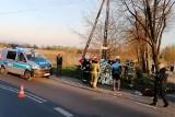 Wypadek kolarzy w Ligocie k. Czechowic-Dziedzic. Wjechał w nich samochód. Są ranni