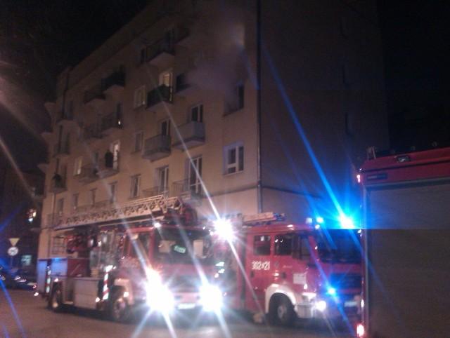 Pożar mieszkania przy ul. 1 Maja w Łodzi