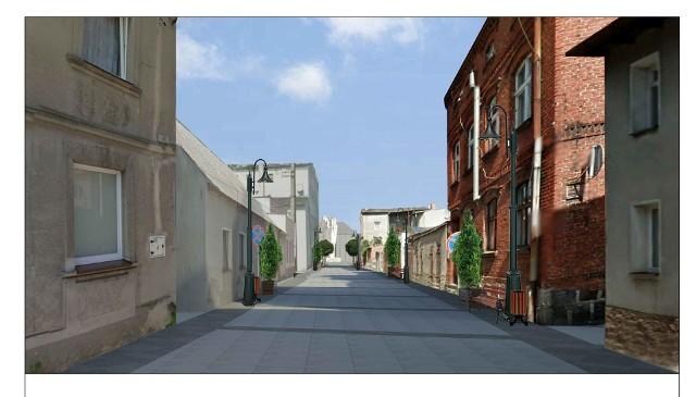 Plac Wolności w Sępólnie i uliczki Starego Miasta do sierpnia 2021 roku mają przejść całkowitą rewitalizację. Ta wizualizacja przedstawia ulicę Kościelną