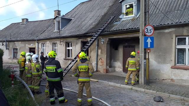 Mieszkanie w budynku przy Żeglarskiej w Chełmnie spłonęło całkowicie. Inne lokale nie ucierpiały