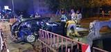 Wypadek w Białogardzie. Kierowca BMW przebił się przez metalowe bariery. Był pijany [ZDJĘCIA]