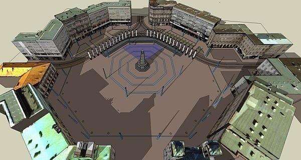 Tak, według wstępnej koncepcji, ma prezentować się pl. Wolności po przebudowie. Na razie nie wiadomo, czy będzie kolumnada w jego północnej części.