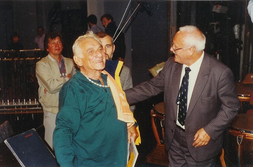 Tak było 25 lat temu. Stefan Stuligrosz, Leonard Bernstein i Andrzej Tatarski.