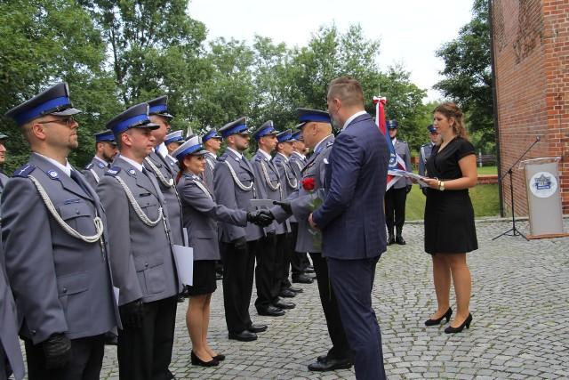 Oświęcimscy policjanci świętowali.