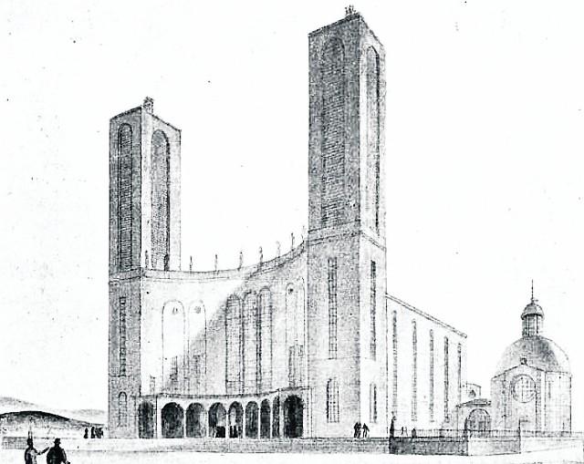 Taką archikatedrę proponował Katowicom krakowski architekt Franciszek Krzywda-Polkowski. Komisja przyznała mu III nagrodę w konkursie