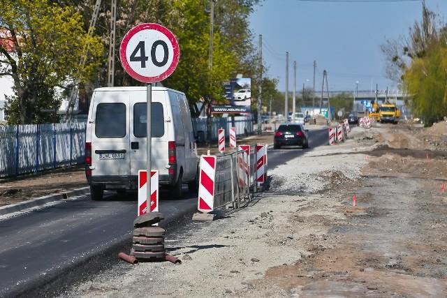 Kolejny etapu prac związanych z przebudową drogi wojewódzkiej nr 342, w tym ulicy Pęgowskiej.
