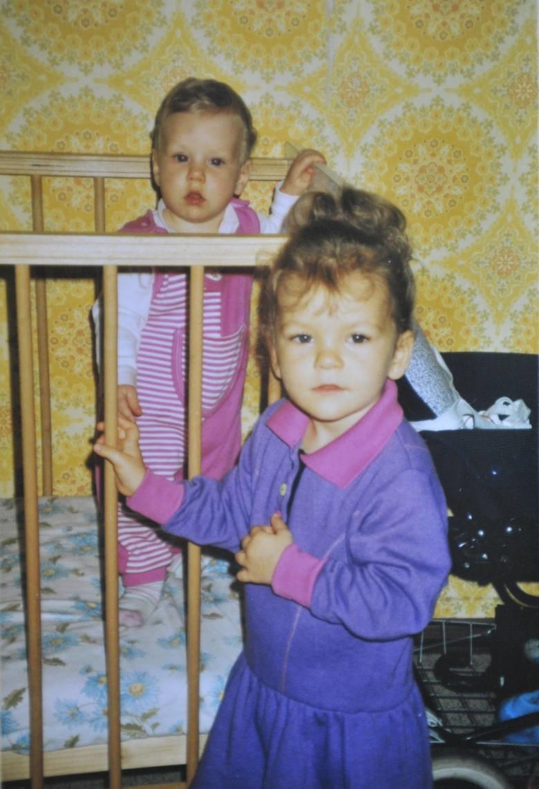Agnieszka przed, a Urszula w łóżeczku