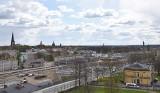 Stargard z dachu Luxpolu. Na zdjęciach miasto widziane z wysokości 22 metrów