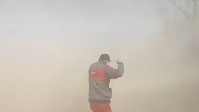 Zamieć pyłowa w powiecie bialskim