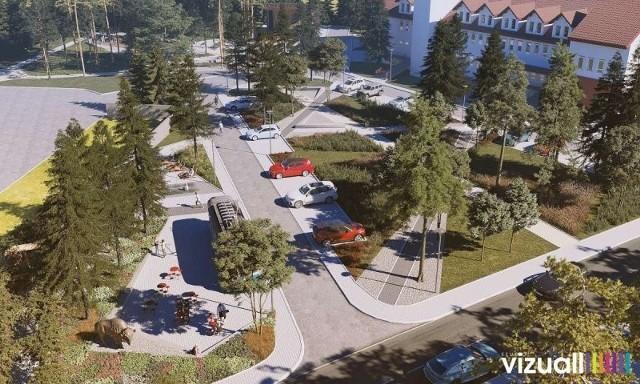 Tak ma wyglądać centrum Kłaja po rewitalizacji. Powstanie m.in. park za blisko 2,5 mln zł. Prace zaplanowano do jesieni 2021 roku