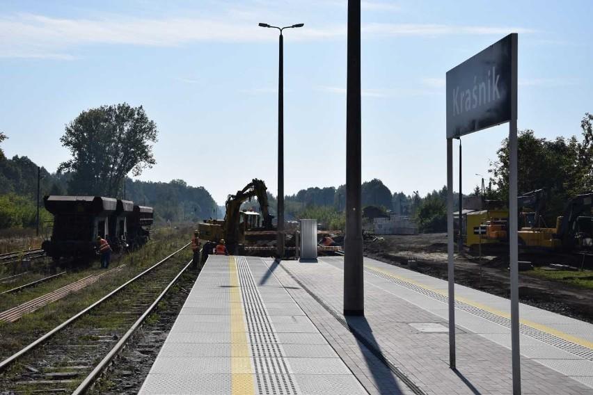 Otwarcie przejazdu kolejowego Kraśnik-Lublin. Nowe perony i szybsze przejazdy