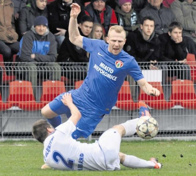 Adrian Gębalski zawodnikiem Puszczy jest od początku tego roku