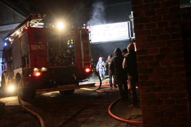 Pożar warsztatu samochodowego w Pucku, 10 lutego 2015