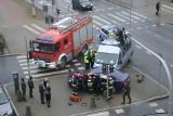 Wrocław: Groźny wypadek radiowozu. Ranny ważny urzędnik