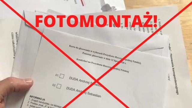 Tak rzekomo ma wyglądać karta do głosowania, która otrzymują Polacy głosujący za granicą.