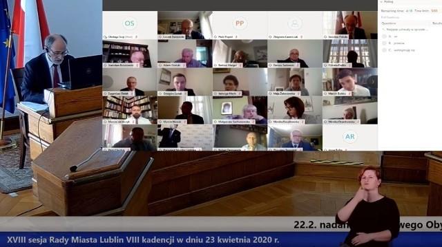 Rada Miasta Lublin po raz pierwszy debatowała w czwartek zdalnie