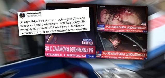 Jest akt oskarżenia wobec syna Ryszarda K. po pobiciu operatora TVP w Gdyni