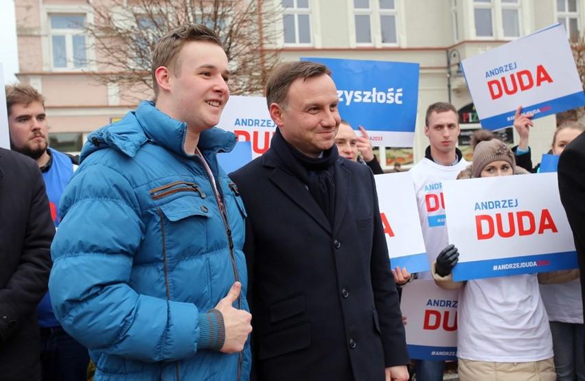 Andrzej Duda był już bardzo blisko Chojnic - w Sępólnie i Tucholi.
