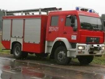Strażacy użyli sorbentów.
