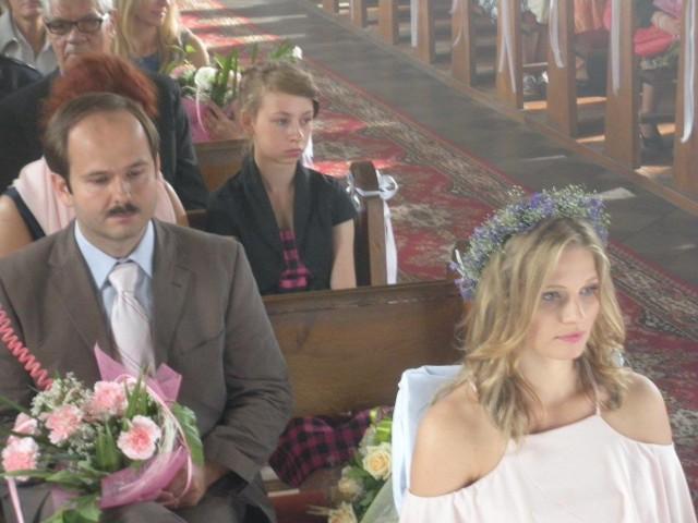 """Ekipa filmowa serialu """"Blondynka"""" pracowała m. in. w kościele pw. Świętej Trójcy"""