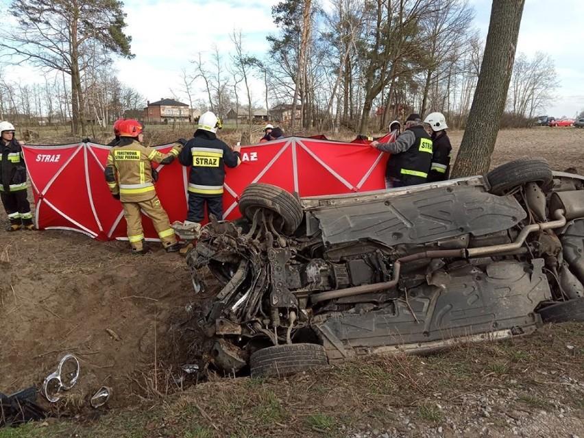 Śmiertelny wypadek koło Wielunia.