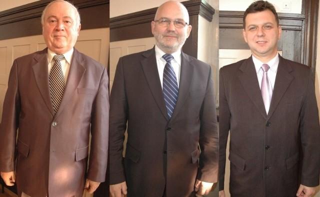 Od lewej: Jan Kus, Stanisław Belka, Roland Fabianek.